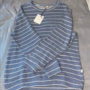 Onia Striped Cozy Crewneck Sweatshirt